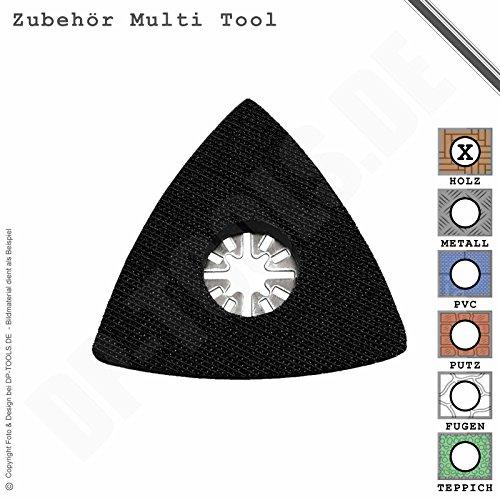 Preisvergleich Produktbild Schleifteller Schleifplatte Klett 80mm für Multifunktionswerkzeug Multi Tool