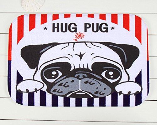 Tapis anti-dérapant en face de la chambre de chiens rouge tapis 40 * 60 cm