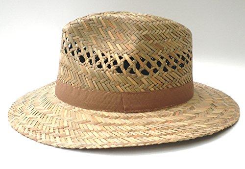 Strohhut Herrenhut– gerade Krempe