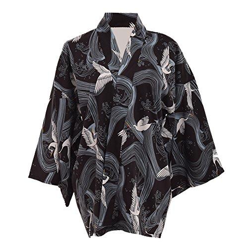 GRACEART Japanisch Stil Kran Drucken Mantel Robe Yukata (Japanische Mäntel Für Frauen)