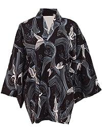 GRACEART Japanisch Stil Kran Drucken Mantel Robe