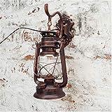 Restaurant Flur Wandlampen,Vintage Vintage Pferd-leuchten,Eisen Europäische Antik Dekorative leuchten E27-B 18x28cm(7x11inch)