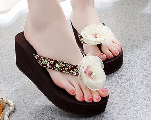 FLYRCX Onorevoli estate spiaggia flip flop di moda fiori anti-skid pantofole g