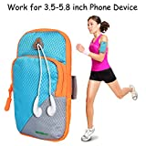 Armband, SGM Unisex Waterproof Sports Armband with Adjustable Strap Suitable for iPhone 6