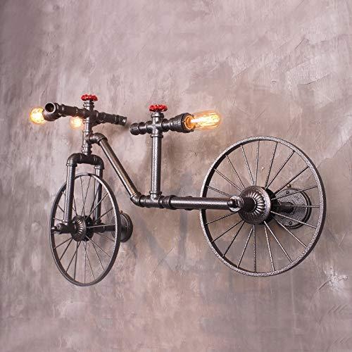 XIAPENGLampadario a bicicletta Americano in ferro battuto Retro bar Ristorante bar Stile industriale Creative Internet Cafe pipe Lampada da parete