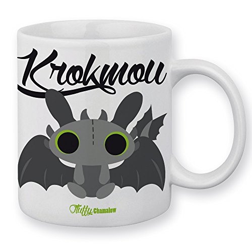 Mug Dragon Krokmou Chibi et Kawaii by Fluffy Chamalow - Fabriqué en France - Chamalow Shop