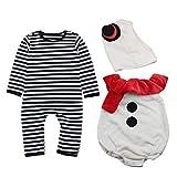 Le SSara Niños Niñas Navidad Papá Noel Ropa para bebés Mono Romper con Sombrero (90, 16013)