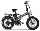 ncx moto Fat-Bike Bicicletta Elettrica Pieghevole a Pedalata Assistita 20' 250W Blackbull Nera e Arancione