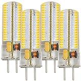 MENGS® 4 Stück GY6.35 6W LED Lampe 120x3014 SMD Warmweiß 3000K AC/DC 12V Mit Silikon Mantel