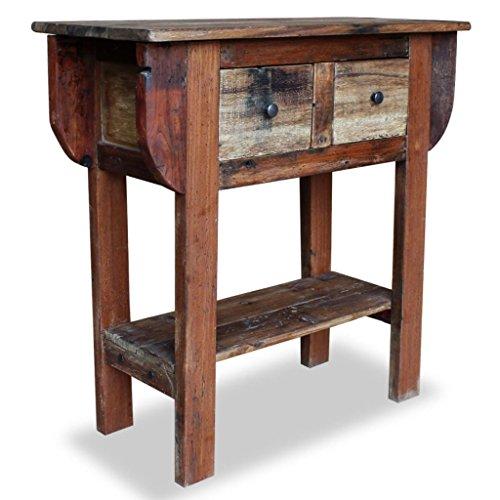 vidaXL Konsolentisch Altholz Handarbeit Tisch Konsole Beistelltisch Sideboard - Altholz Tisch