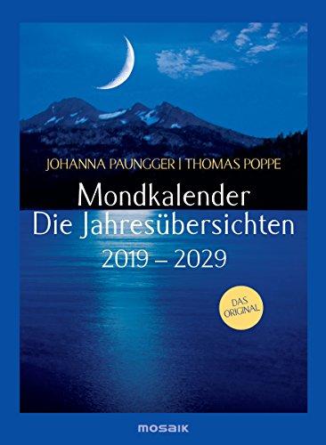 Mondkalender - die Jahresübersichten 2019-2029