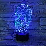 Nachtlicht Coole Vatertagsgeschenk 3D Lampe Neuheit Männer Mit Schwarzen Brille LED-Licht Schreibtisch Tischlampe Dekoration USB 7 Farben Ändern Lava Licht