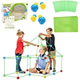 Kids Fort Builder,Kinder Forts Bauspielzeug,DIY-Bauspielzeug,Zelte,Bauen Sie Ihre eigene Höhle Kit,DIY Gebäude Schlösser Tunn