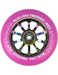 Rueda Metal Core Thunder PU Color Rosa Core Rainbow, Diámetro 110 mm
