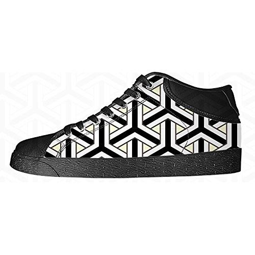 Custom pfeil muster Men's Canvas shoes Schuhe Lace-up High-top Sneakers Segeltuchschuhe Leinwand-Schuh-Turnschuhe (City Royals-muster Kansas)