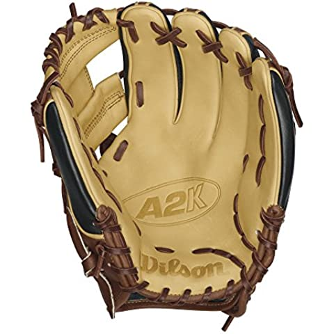 Wilson 2016 A2K 1788 SuperSkin Baseball Glove, Walnut/Black/Blonde by Wilson