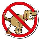 Hochwertiges Schild Alu Hier kein Hundeklo 210 x 210 mm Freiform (Hundekot, Hundehaufen)