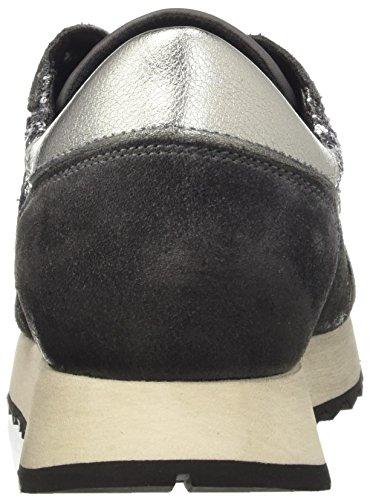 TRUSSARDI JEANS by Trussardi 79s045xx51, Pompes à plateforme plate femme Grigio (Grey Glitter)