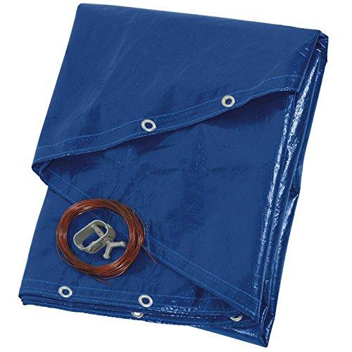 Ribiland prbp140r42Lona para piscina redonda, diámetro 4.20m, azul