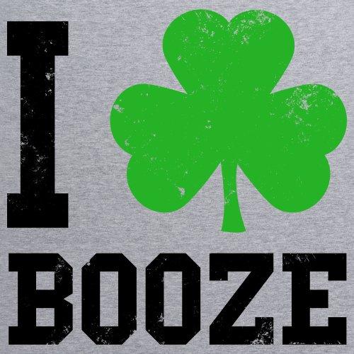 I Love Booze T-Shirt, Damen Grau Meliert