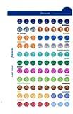 Filofax - Adesivi per organizer, formato piccolo