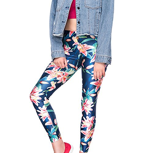 Styledresser Pantaloni Donna Leggings Yoga Vita Alta Abbigliamento Sportivo Estivo Stampa Floreale Skinny Leggings Sportwear per Yoga Jogging Fitness