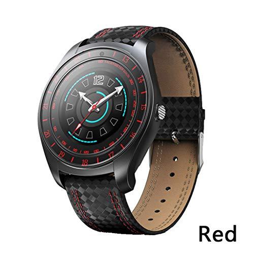 FGHFDX Intelligente UhrSmart Watch Männer Wasserdicht BlutdruckHerzfrequenz Schlaf Monitor Fitness Tracker Sportuhr Stahlband Sport Mp4 Watch Player
