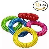 EQLEF® 12 PCS del mosquito de las pulseras repelentes de insectos, de las vendas protección de la muñeca para adultos y niños
