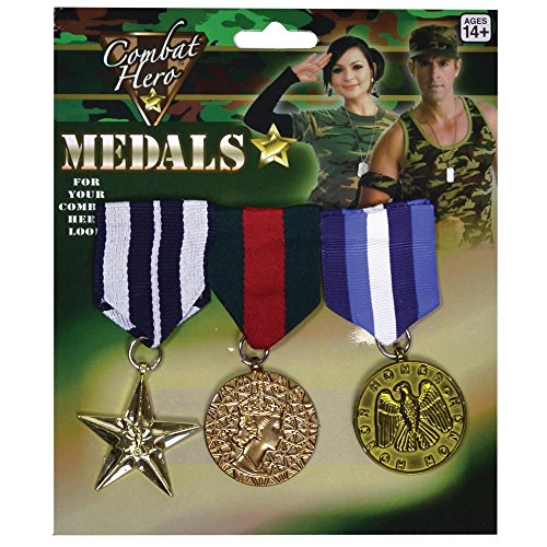 Peeks Pack of 3 Combat Military Army Fancy Dress Costume Outfit Prop War ()