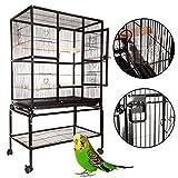 Ridgeyard Großer Vogel Papageienkäfig Haus Playtop Cage Perches mit beweglicher Räder stehen