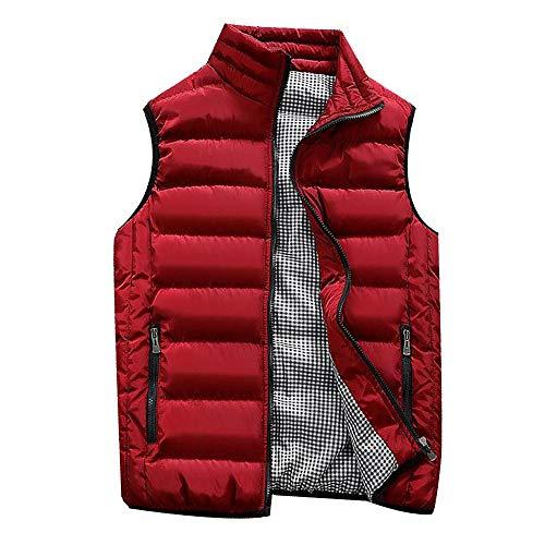 Weise Herbst Winter Mantel, Quaan Klassisch Einfachheit Retro Sport Sweatshirt weich Modus Formal befallen Geschäft Gepolstert Baumwolle Weste Warm Dick Weste Tops ()