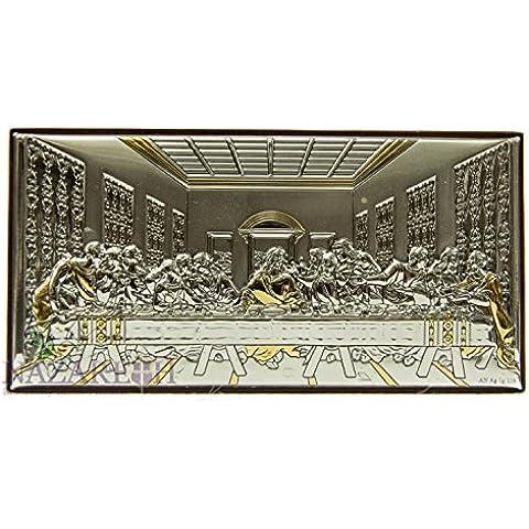 Unico Ultima cena di Jesus icona italiana argento 950' con 9K parti oro