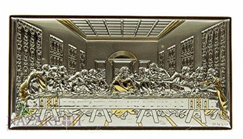 Única última cena de Jesús icono italiano plata 950' con 9K de piezas de oro