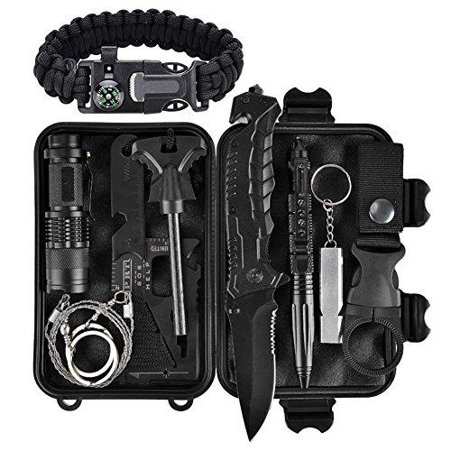XUANLAN Kit di Sopravvivenza Professionale Multiuso, 12 in 1 Survival Kit Usato per Esterna First Aid Kit per Gli Sport all'Aria Aperta, Campeggio, Alpinismo (Set 3)