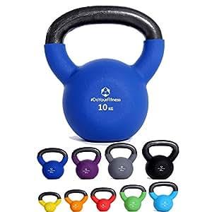 #DoYourFitness Kettlebell »Kylon« revêtu de néoprène/idéals pour l'entraînement d'endurance et la physiothérapie/poids à main de 2 à 20 kg, 100% fonte/poids : 2 kg/couleur : bleu marine
