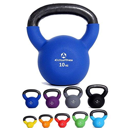 Kettlebell »Kylon« pesa esférica / pesas rusa 2 - 20 kg / Pesa de mano de 100 % hierro con superficie de neopreno / Calidad de gimnasio para un alto rendimiento