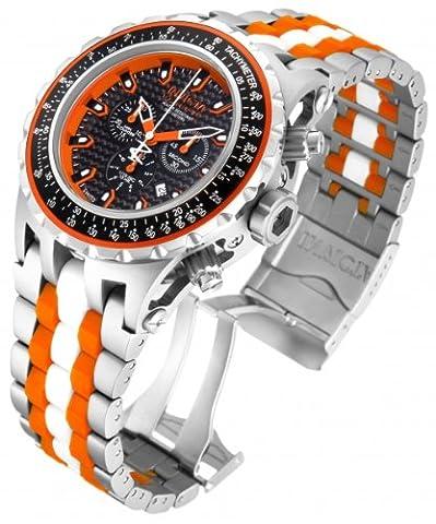 Invicta Subaqua Men's Quartz Watch with Black Dial Chronograph display on Multicolour Titanium Bracelet 12780