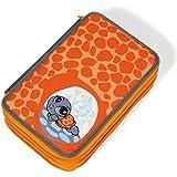 Nici - Estuche 3 pisos Tortuga 20x13x17cm, cont. 42 uds, color naranja (38697)