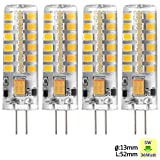 Sunix 4pcs Hohe Energie G4 5W 48 SMD 2835 LED Silikon Scheinwerfer Birnen Lampen warm Weiß dimmbar SU023
