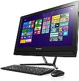 Lenovo C50 23-Inch HD All-in-One Desktop PC (Intel Core i5-5200U 2.2 GHz, 8 GB RAM, 1 TB HDD, DVD-RW, WLAN, Bluetooth, Camera, Nvidia Geforce 820A 2G Graphics) - Black