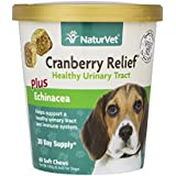 NaturVet CRANBERRY RELIEF + Echinacea Soft Chew Dogs Urinary Tract (CUP) - 60 ct