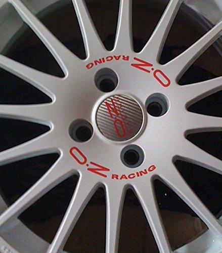 OZ Racing WRC Aufkleber Sticker Felgenaufkleber Set Rot 16