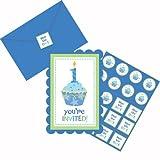 Amscan Einladungskarten blau 1.Geburtstag (Pack 8 St.)