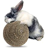 Autone Small Pet Chewing Toy- Natural Grass Ball Teeth Cleaning Grinding Toys for Rabbits Cats Small Rodents
