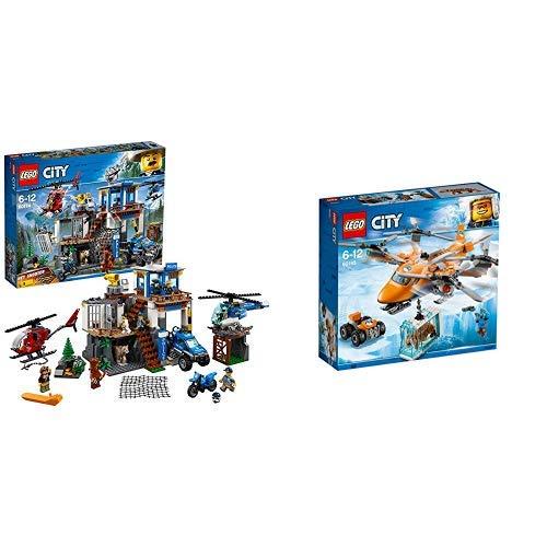 LEGO City 60174 - Bergpolizei Hauptquartier Cooles Kinderspielzeug &  City 60193 Arktis-Frachtflugzeug