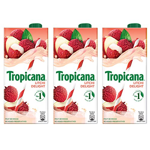 Tropicana Litchi Delight Fruit Juice 1L (Pack of 3)