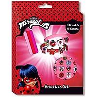 Miraculus KE8386 - Caja de accesorios Ladybug (3 pulseras y 18 amuletos)