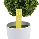 #1: Generic 100pcs Plastic Garden Plant Seed Labels Nursery Stake Tags Pot Marker Nursery Garden Stake Tags Cute Garden Labels(Yellow)