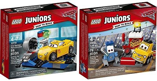 LEGO Juniors Disney Cars 2er Set 10731 10732 Cruz Ramirez Rennsimulator + Guido und Luigis Pit Stopp (Cars Lego-sets Disney)