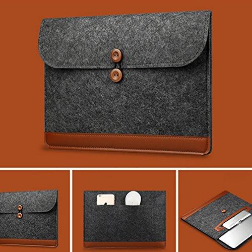 YiJee Universal Soft Touch Hülle Laptop Tragender Notebook Tasche 13 Zoll Schwarz